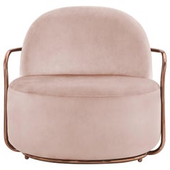 Orion Lounge Chair Blush Rose by Nika Zupanc