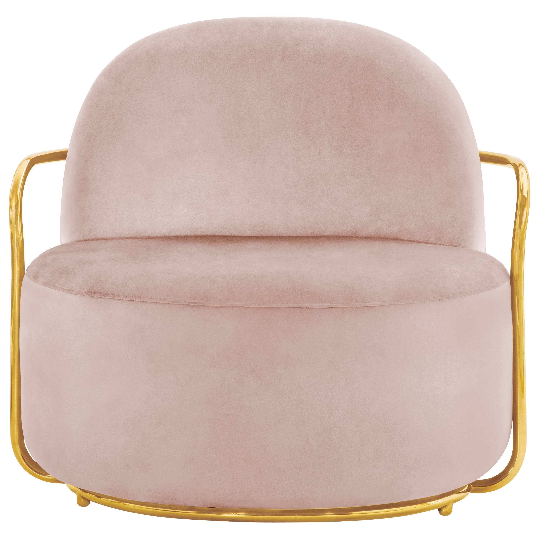 Orion Lounge Chair Blush Rose by Nika Zupanc for Scarlet Splendour