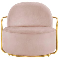 Orion Lounge Chair Blush Rose by Nika Zupanc for Scarlet Splendour