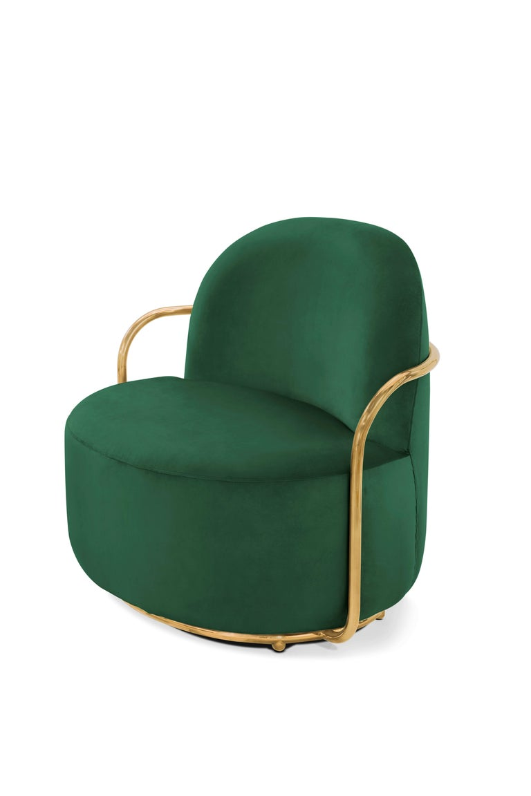 Orion lounge chair Green by Nika Zupanc for Scarlet Splendour