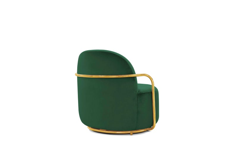Other Orion Lounge Chair Green by Nika Zupanc for Scarlet Splendour For Sale