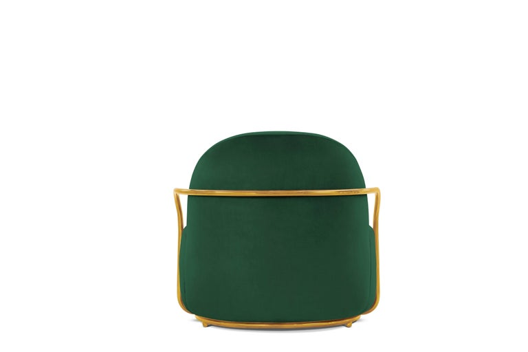 Indian Orion Lounge Chair Green by Nika Zupanc for Scarlet Splendour For Sale