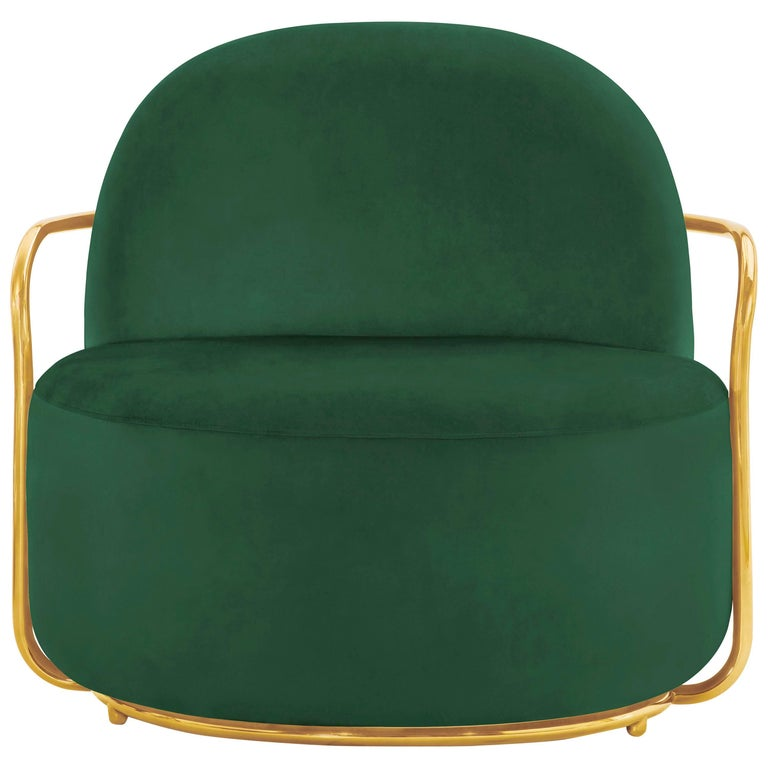 Orion Lounge Chair Green by Nika Zupanc for Scarlet Splendour For Sale