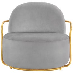Orion Lounge Chair Grey by Nika Zupanc for Scarlet Splendour
