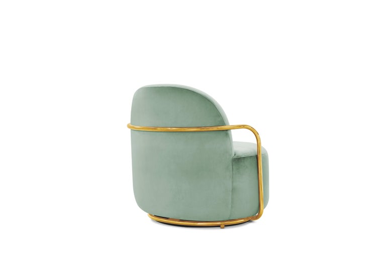 Other Orion Lounge Chair Jade by Nika Zupanc for Scarlet Splendour For Sale