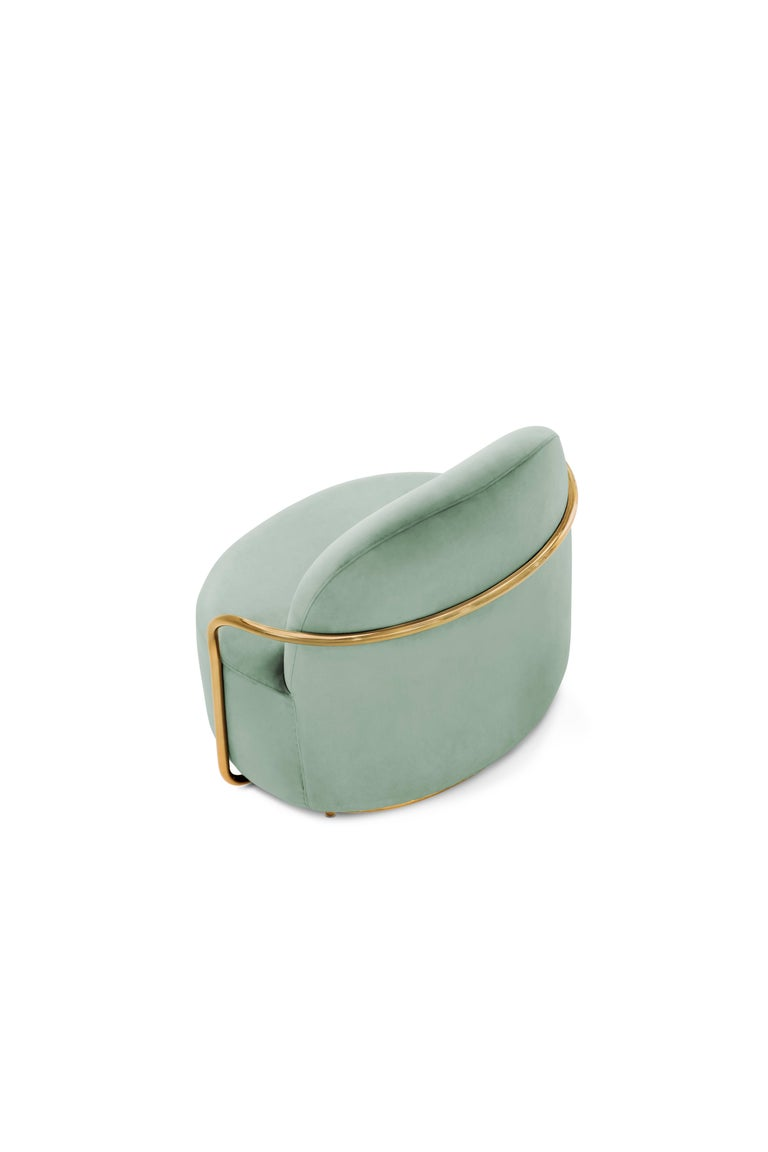 Indian Orion Lounge Chair Jade by Nika Zupanc for Scarlet Splendour For Sale