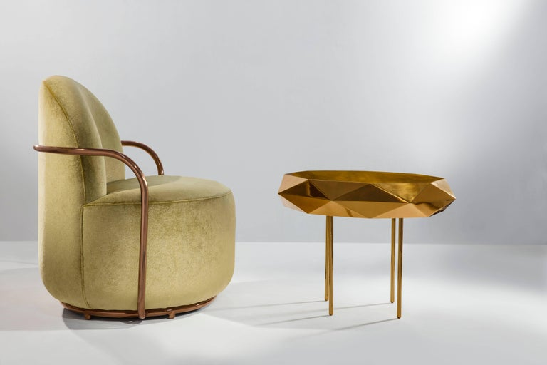 Orion Lounge Chair Jade by Nika Zupanc for Scarlet Splendour In New Condition For Sale In Firenze, IT