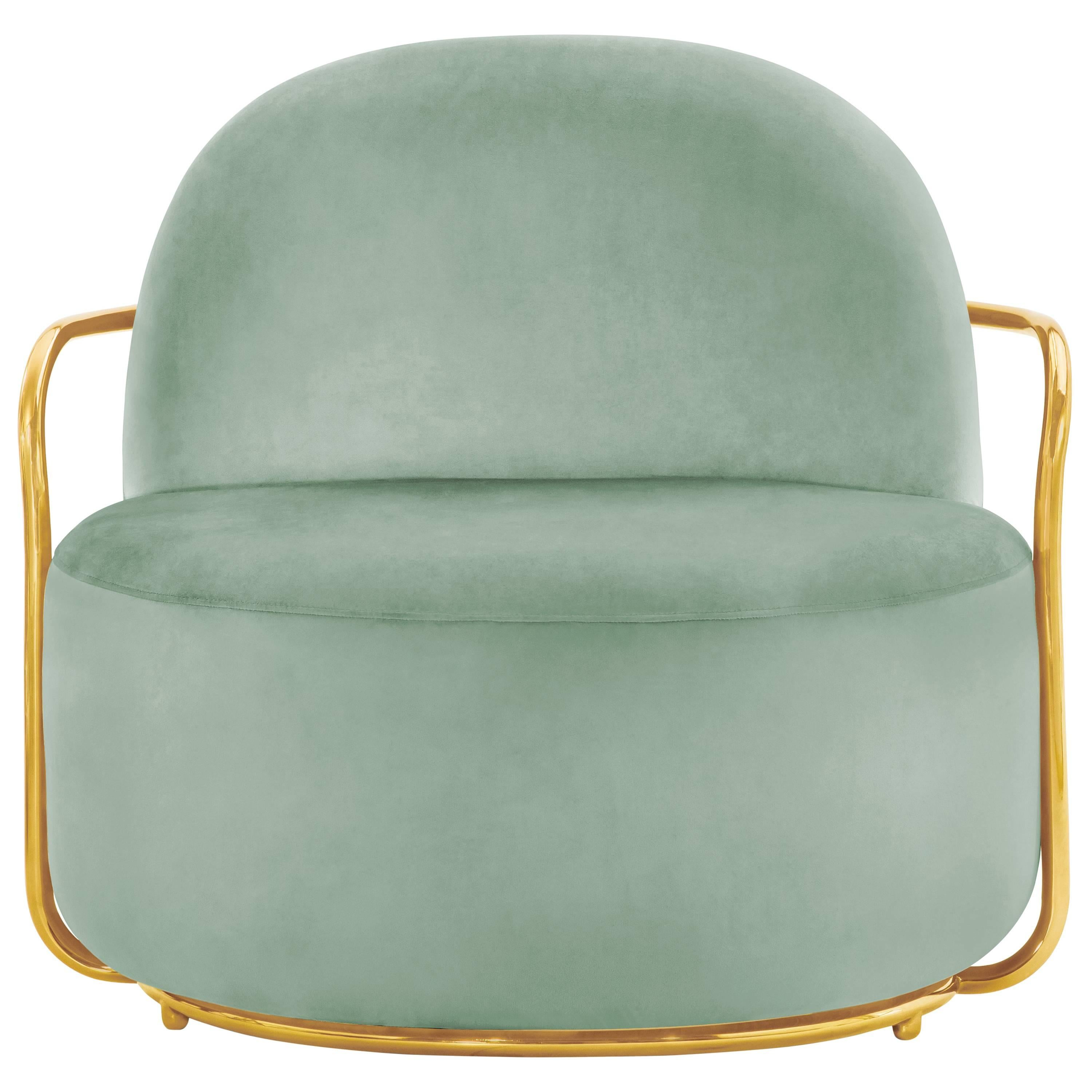 Orion Lounge Chair Jade by Nika Zupanc for Scarlet Splendour