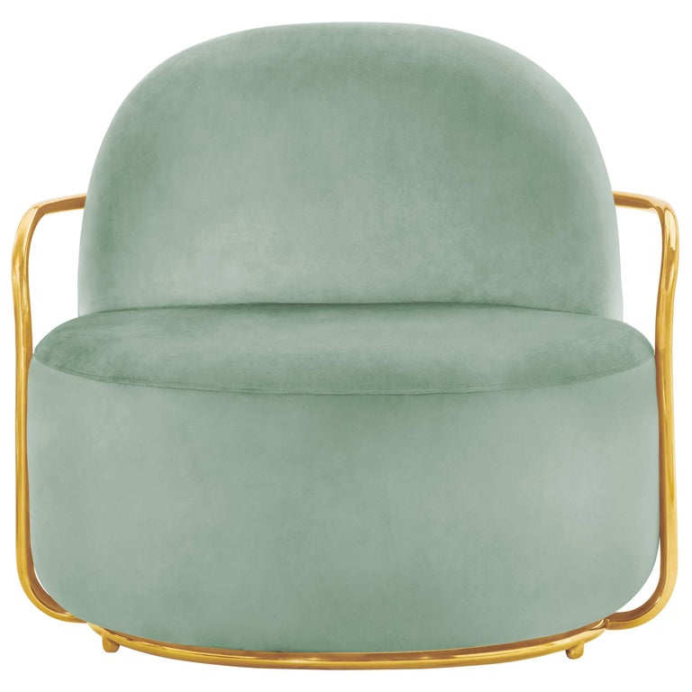 Orion Lounge Chair Jade by Nika Zupanc for Scarlet Splendour For Sale
