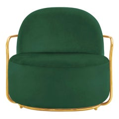 Orion Lounge Chair Verde Oro by Nika Zupanc