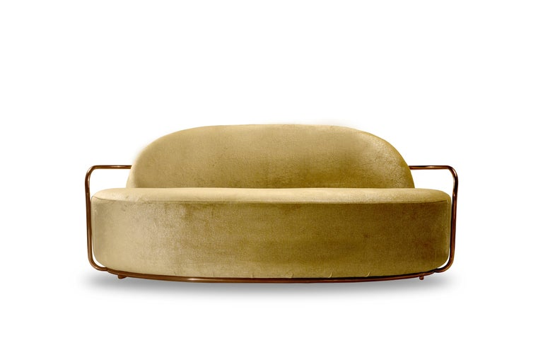 Orion sofa gold with Dedar Milano fabric by Nika Zupanc for Scarlet Splendour  The 88 constellations of the universe mysterious and magical, holding a promise to guide our destinies. Little wonder that they are the muse for the 88 Secrets, Nika