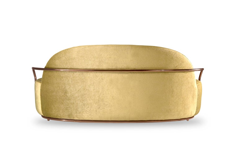Indian Orion Sofa Gold with Dedar Milano Fabric by Nika Zupanc for Scarlet Splendour For Sale