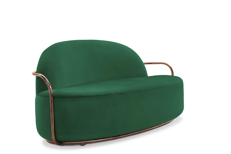 Orion sofa green by Nika Zupanc for Scarlet Splendour.  The 88 constellations of the universe mysterious and magical, holding a promise to guide our destinies. Little wonder that they are the muse for the 88 Secrets, Nika Zupanc's debut collection