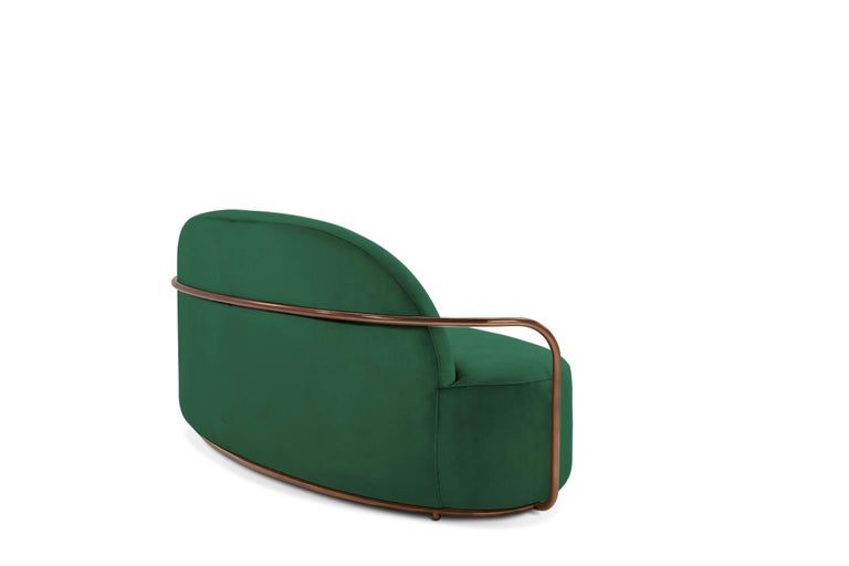 Orion Sofa Green by Nika Zupanc for Scarlet Splendour In New Condition For Sale In Firenze, IT
