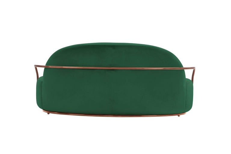 Contemporary Orion Sofa Green by Nika Zupanc for Scarlet Splendour For Sale