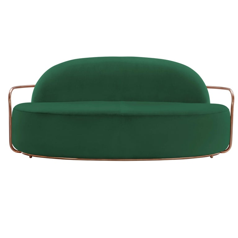 Orion Sofa Green by Nika Zupanc for Scarlet Splendour For Sale