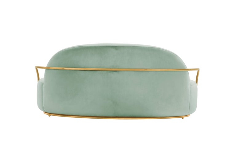 Contemporary Orion Sofa Jade by Nika Zupanc for Scarlet Splendour For Sale