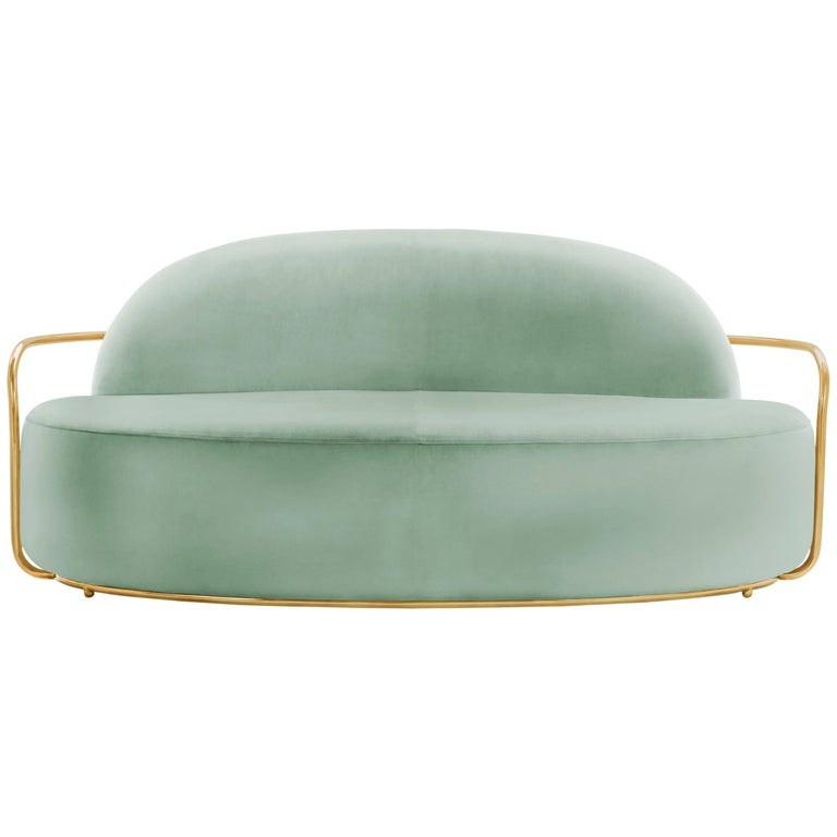 Orion Sofa Jade by Nika Zupanc for Scarlet Splendour For Sale