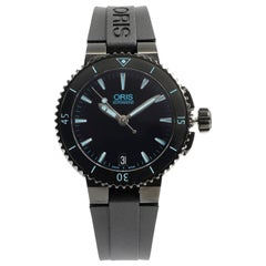 Oris Aquis PVD Steel Ceramic Black Dial Automatic Ladies Watch 733-7652-4725 RS