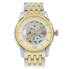 Oris Artelier Skeleton Steel Gold PVD Automatic Men's Watch 734-7670-4351MB