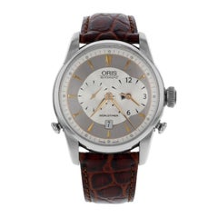 Oris Artelier Worldtimer Silver Dial Steel Automatic Men's Watch 69075814051LS