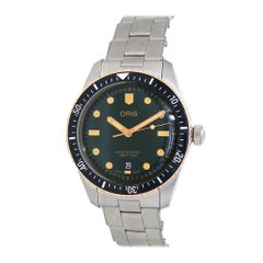 Oris Divers 01 733 7707 4357, Black Dial, Certified and Warranty
