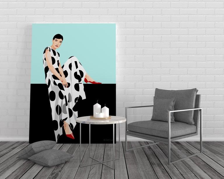 Orit Fuchs Giclee print female figure painting.  From Vivid 51 series. - Pop Art Print by Orit Fuchs