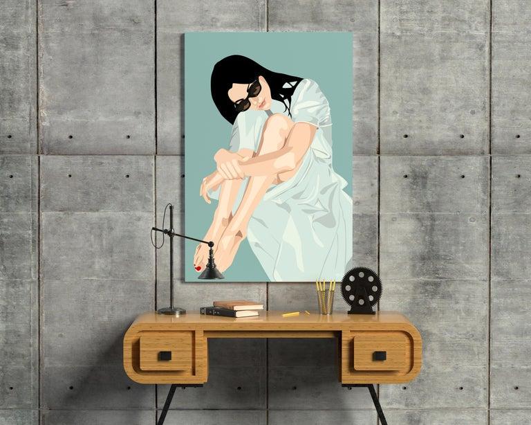 Orit Fuchs Giclee print female figure painting.  From Vivid 83 series. - Pop Art Painting by Orit Fuchs
