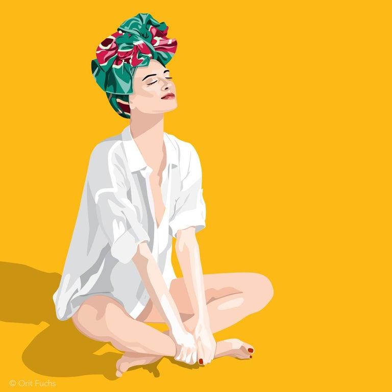 Orit Fuchs: Vivid 32 - Giclee print on canvas female figure painting - Print by Orit Fuchs