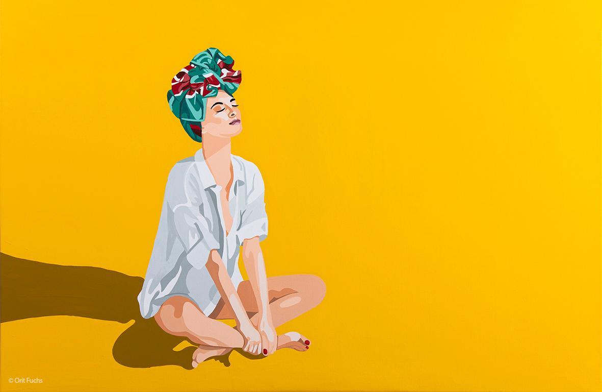 Orit Fuchs: Vivid 32 LG - Giclee print on canvas female figure painting
