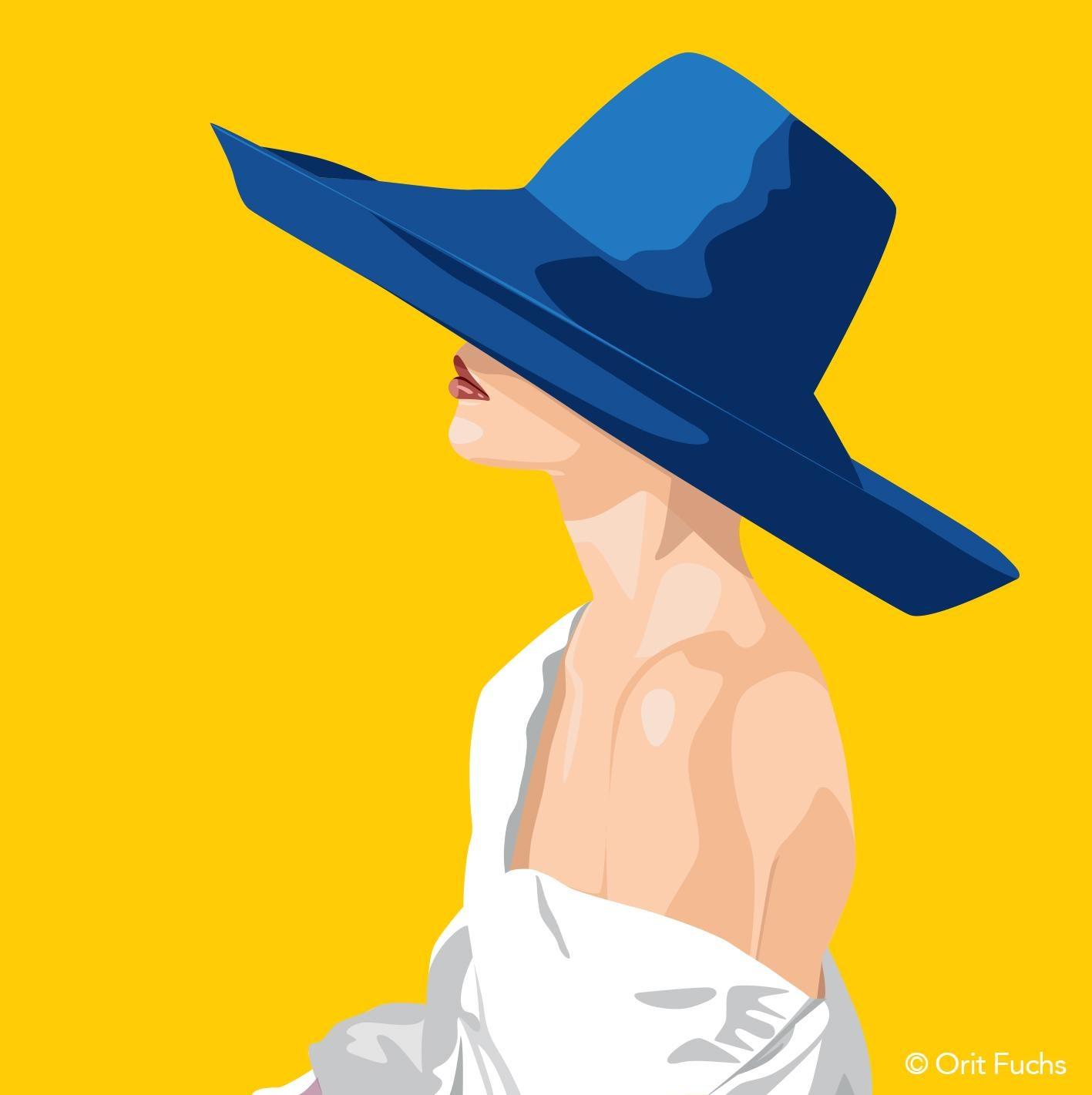 Orit Fuchs: Vivid 50 - Giclee print on canvas female figure painting