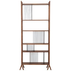 Orizaba Two Sided Bookcase Module B, Wood and Aluminium, Contemporary Design