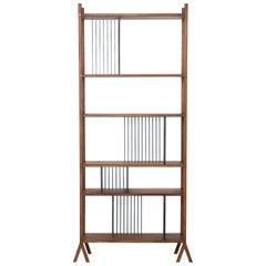 Orizaba Two Sided Bookcase Module B, Wood and Aluminium, Contemporary Design