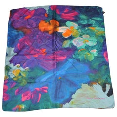 "Orla Ermanno Wonderful Tranquil ""Waterlilies"" Silk Scarf"