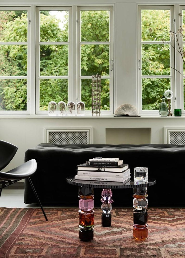 Post-Modern Orlando Contemporary Crystal Table For Sale