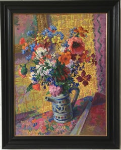 Orlando Greenwood, Still life of summer flowers