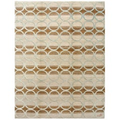 "Orley Shabahang Signature ""Circles"" Handmade, Contemporary Carpet"