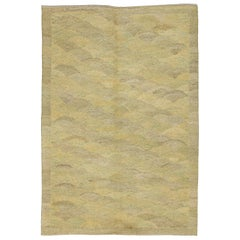 "Orley Shabahang Signature Collection ""Rice Paddy"" Handmade, Contemporary Carpet"