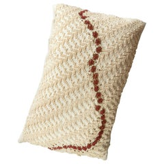 ORMA, Large Natural White and Brown Cotton Cushion