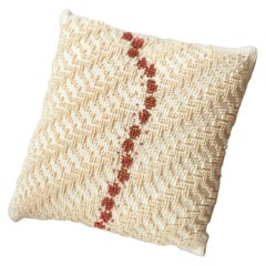 ORMA, Small Natural White and Brown Cotton Cushion