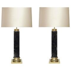 Ormolu-Mounted Column Style Rock Crystal Lamps