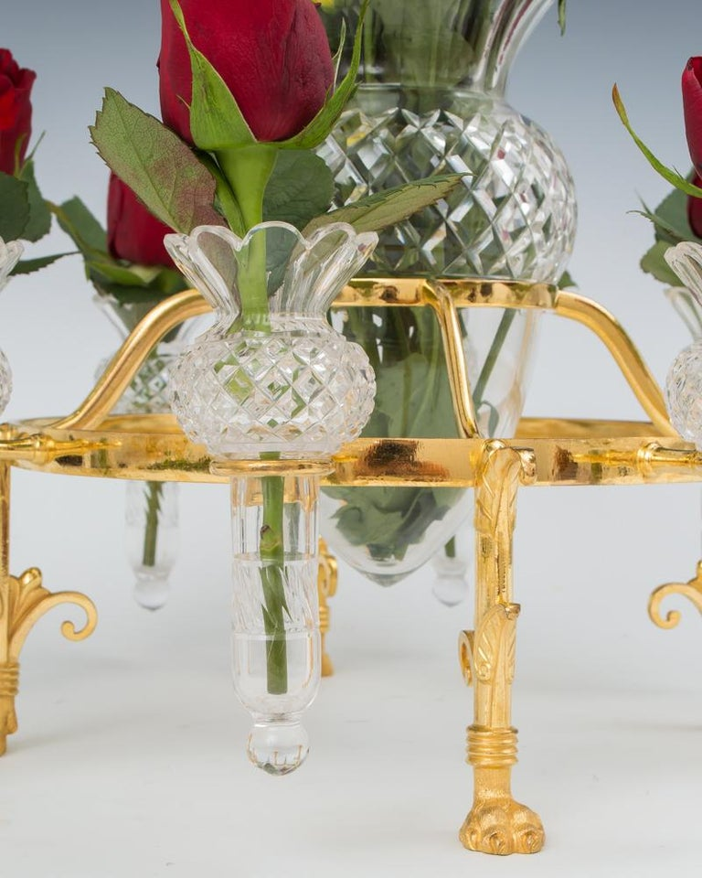 British Ormolu Mounted Flower Epergne by F&C Osler For Sale