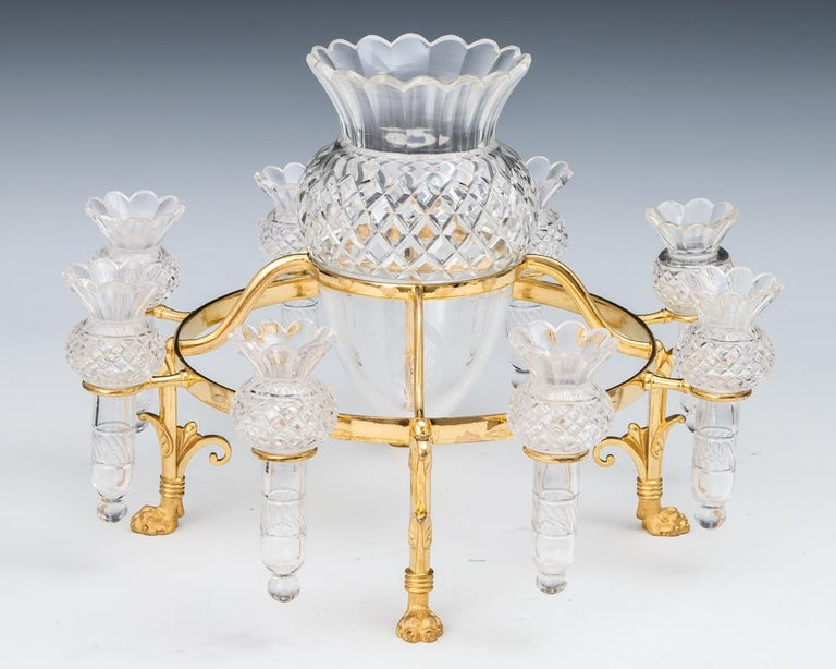 Ormolu Mounted Flower Epergne by F&C Osler In Excellent Condition For Sale In Steyning, West sussex