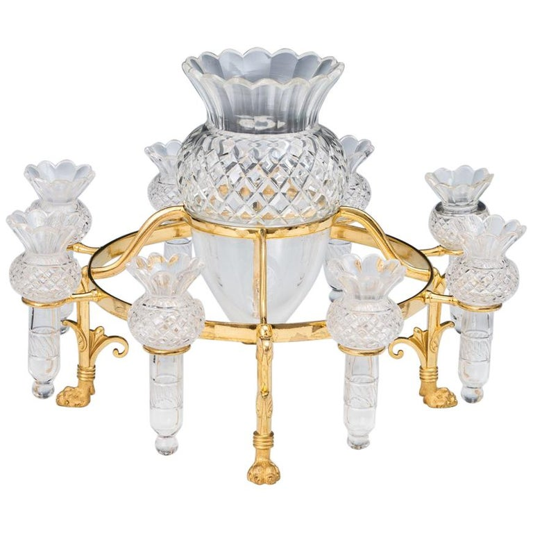 Ormolu Mounted Flower Epergne by F&C Osler For Sale