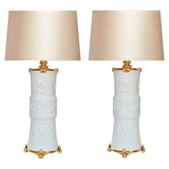 Ormolu-Mounted Porcelain Lamps