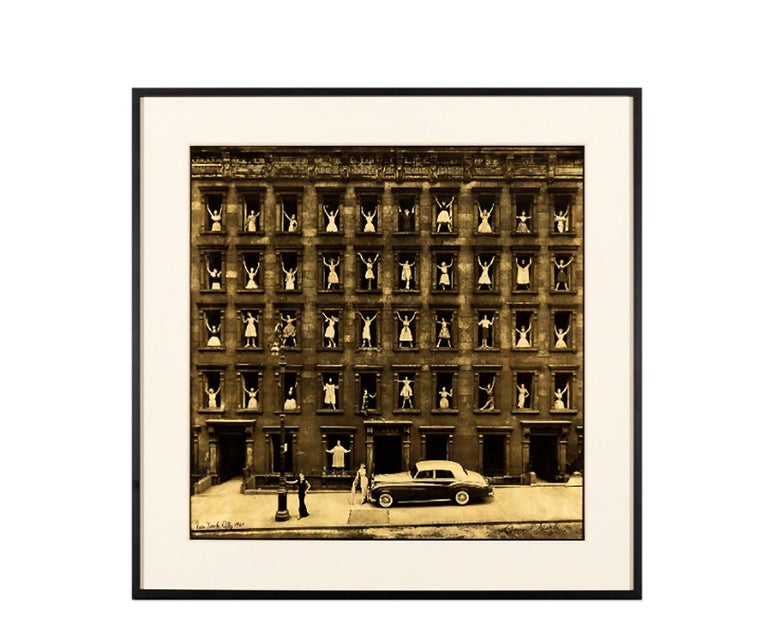 Girls in the Window, Platinum on Vellum with Gold Leaf Fashion Photo, Ed of 10 - Photograph by Ormond Gigli