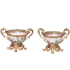 Ormulu Mounted Chinese Vases