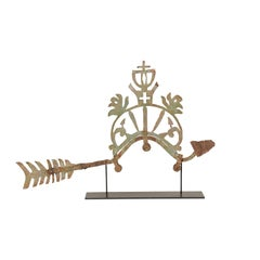 Ornamental Bird Fragment from the 19th Century on Custom Stand