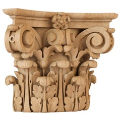 Ornamental Custom Made Carved Capital for Interior