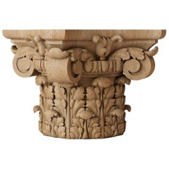 Ornamental Custom Made Carved Capital for Walls, Cabinets, Furniture